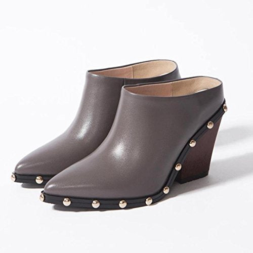 New arrval Brand Slingback Sweet Pointed Toe Women Pumps Thick High Heel Solid Rivets Causal Office Lady Work Model Shoes