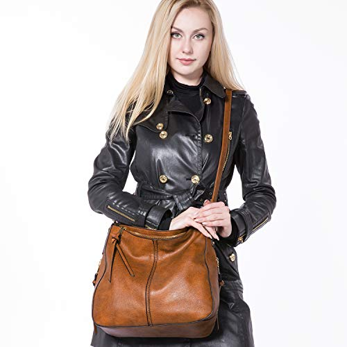 Handbags for Women Large Designer Ladies Hobo bag Bucket Purse Faux Leather