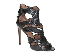 Alaïa Women's Black Python High Heel Sandals Shoes - Size: 9.5 US
