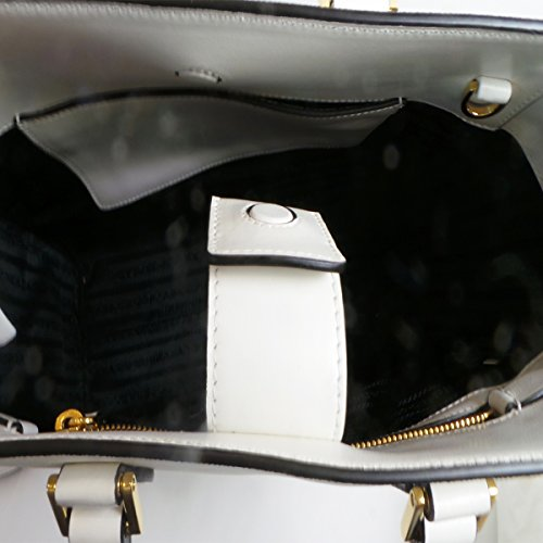 Prada Ivory Baltico Saffiano Leather Bag 1BA189