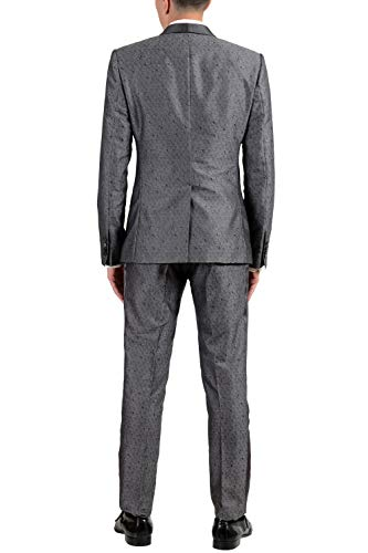 Dolce & Gabbana Men's Silk Wool Gray Three Piece Suit US 38 IT 48