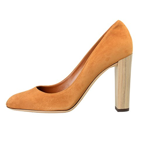 JIMMY CHOO Women's LARIA Brown Suede Leather High Heel Pumps Shoes US 11 IT 41
