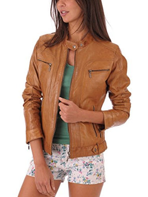 Silversoft Women's Lambskin Leather Jacket XXX-Large Brown