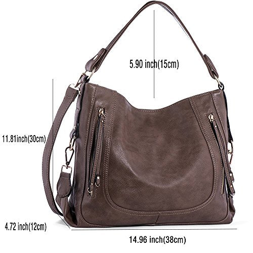 Handbags for Women,UTAKE Women's Shoulder Bags PU Leather Hobo Handbags Top-Handle Purse for Ladies