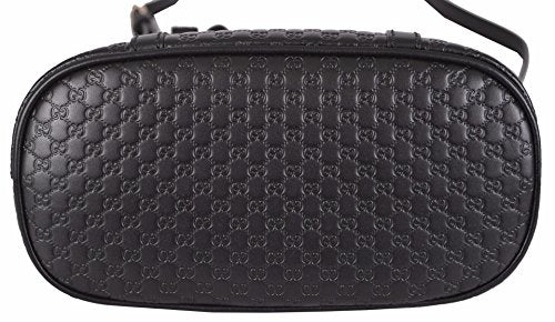 Gucci Women's Micro GG Black Leather Convertible Mini Dome Purse