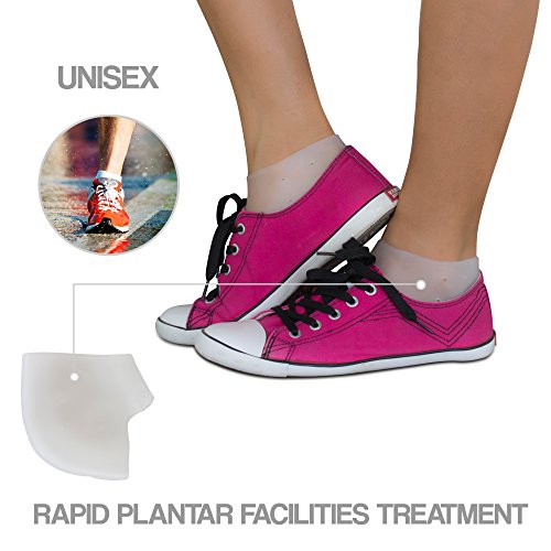 Plantar Fasciitis Treatment, Heel Pain Relief Protectors 2 pairs - Foot Inserts for Achilles Tendonitis Tendon, Spurs, Fascia Support, Sore Feet, Bruised Foot Cracked Heels for Women Men by Ballotte