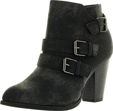 Forever Women's Camila-62 Buckle Strap Block Heel Ankle Booties, TPS Camila-62