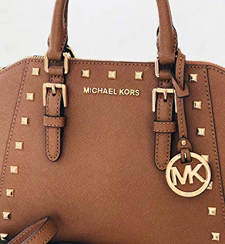 Michael Kors Ciara Studded Medium Messager Leather Bag Luggage
