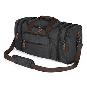 Plambag Canvas Duffle Bag for Travel, 50L Duffel Overnight Weekend Bag(Dark Gray)