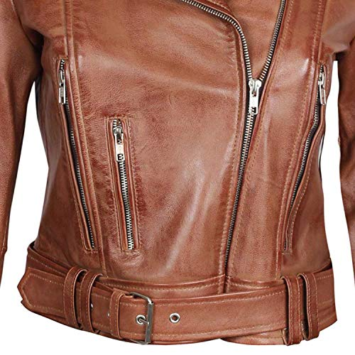 Brown Women Leather jacket at bestitem.co by Marco Tricca - Genuine Leather Motorcycle Jackets Women| XL