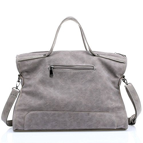 Mn&Sue Women Top Handle Satchel Handbags Large Tote Purse Shoulder Bag