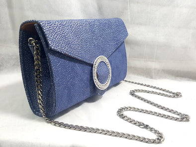 Handbag Colleen Silver Blue - Bestitem.co
