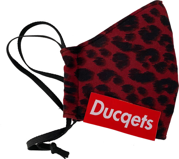 Fashion Masq (Red Leopard) - Ducqets