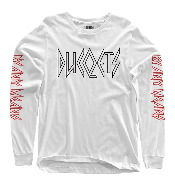 Rocq By Any Means Long Sleeve T-Shirt - Ducqets