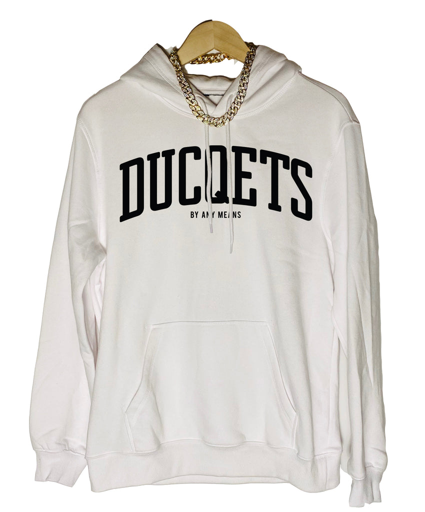 Athletic Hoodie (White) - Ducqets