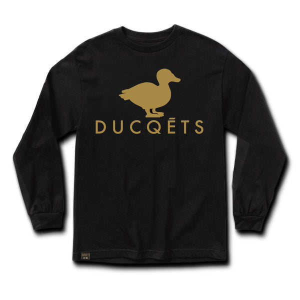 Gold Ducq Long Sleeve Slim-Fit T-Shirt - Ducqets