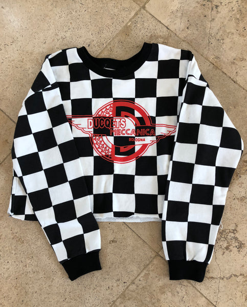 Checkered Ducqets Crop Top - Ducqets