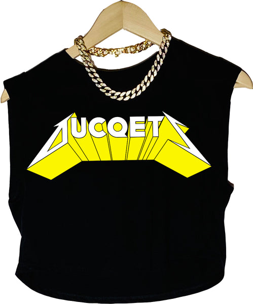 Ducqtelica Sleeveless Crop (Blacq) - Ducqets