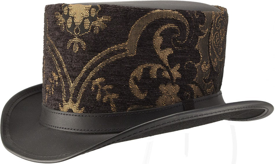 Altar Brocade Black Gold Top Hat