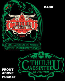 Cthulhu Absinthe Workshirt Sigh Co
