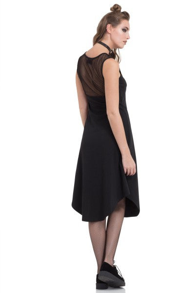 DRA8360 Sheer Back Dress