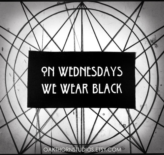 On Wednesdays We Wear Black Patch Oakthorn Studios