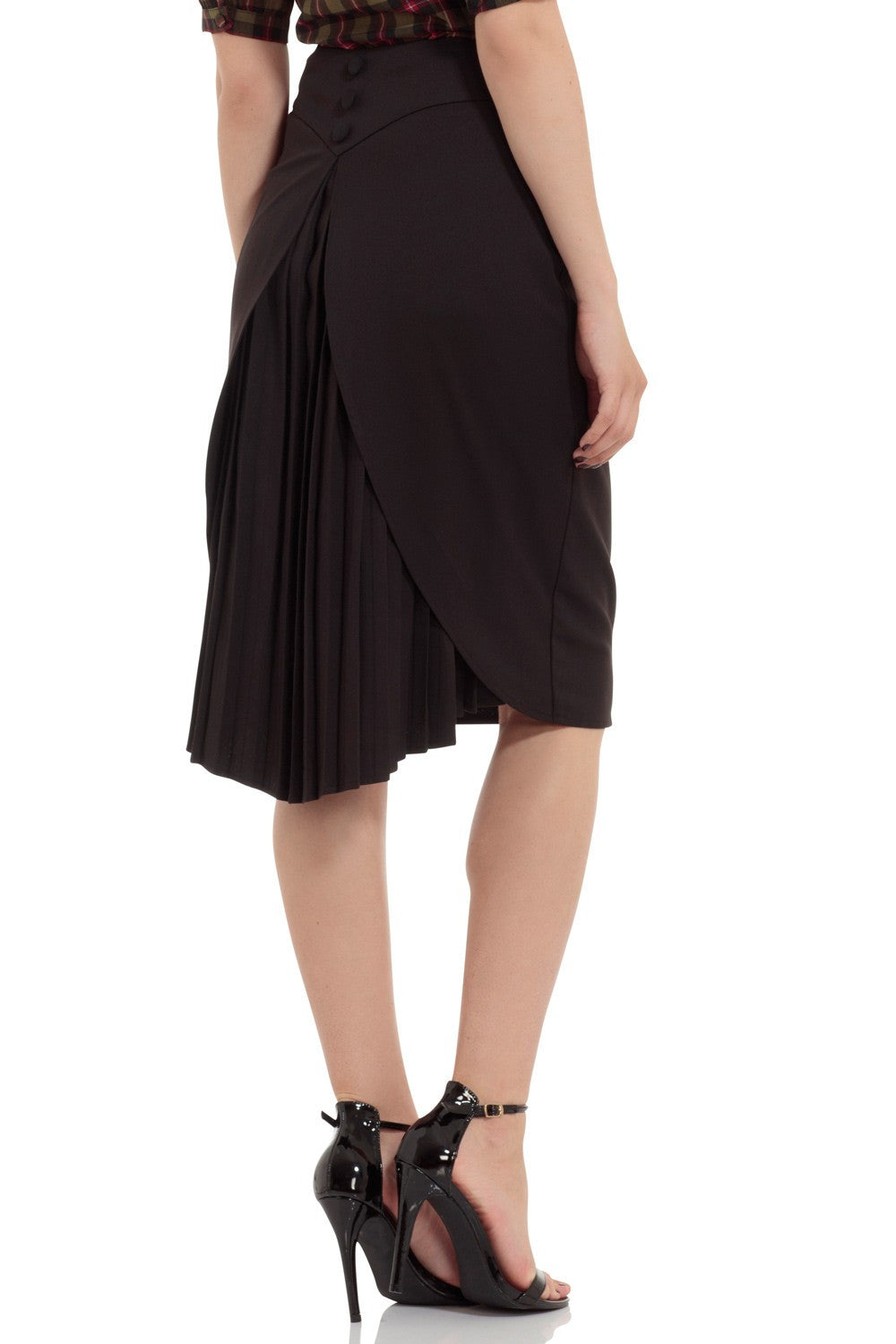 SKA3288 Back Pleated Skirt