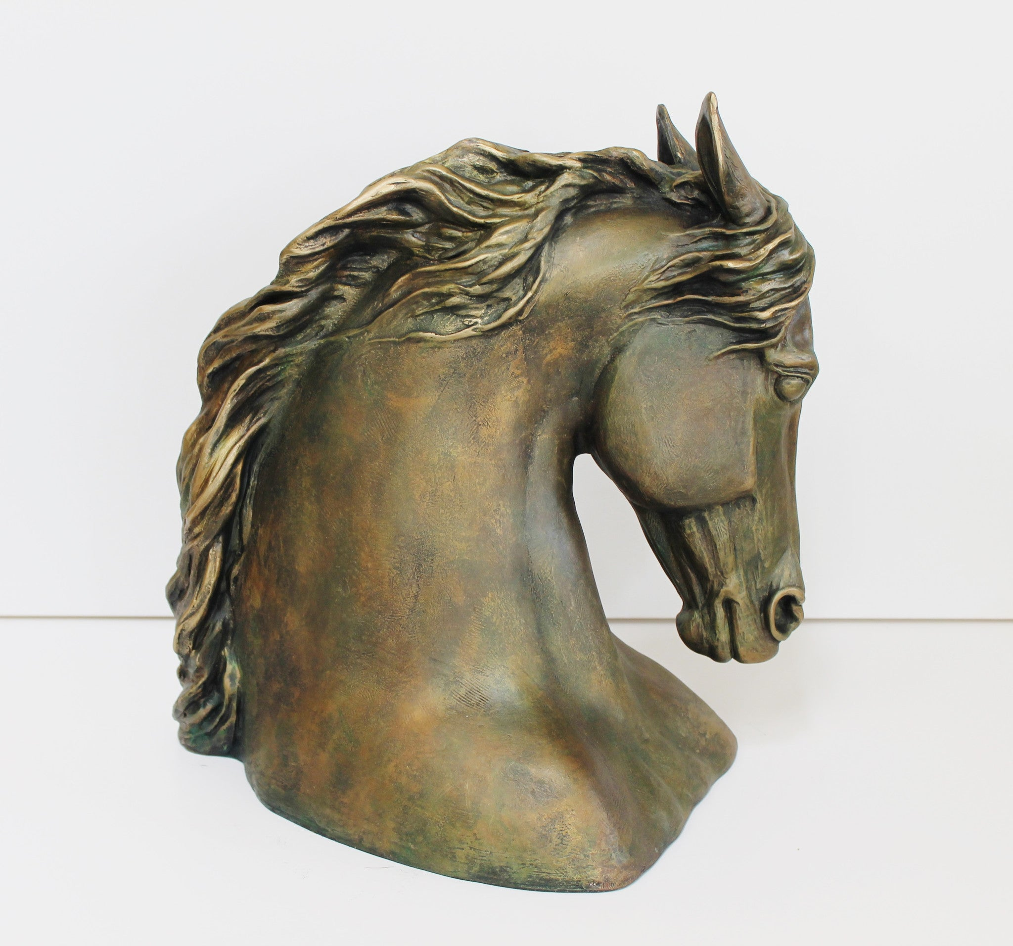 Horse Head Sculpture - faux bronze colorPatricia Borum - 1