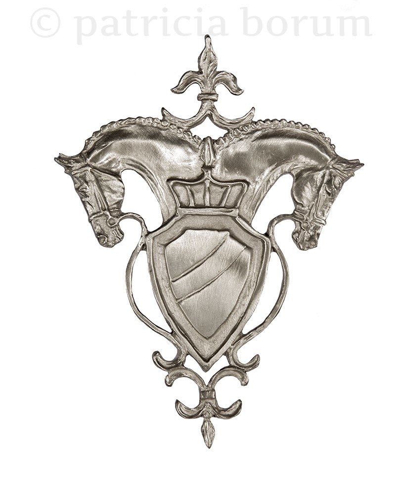 Classical Horse Crest ornament - Patricia Borum - 1