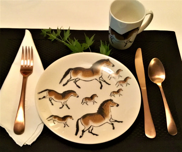 Cave horse lunch plates