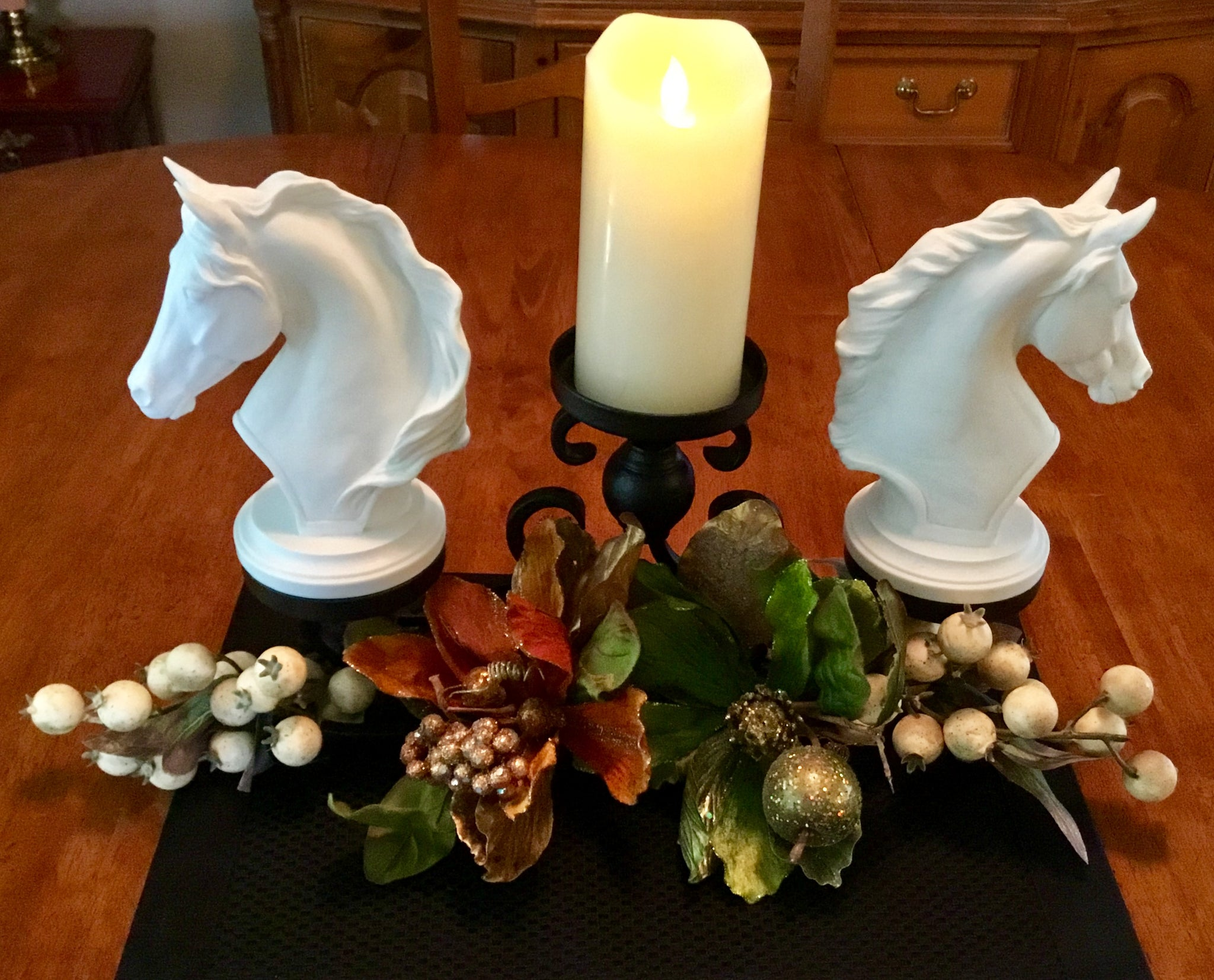horse head table centerpiece