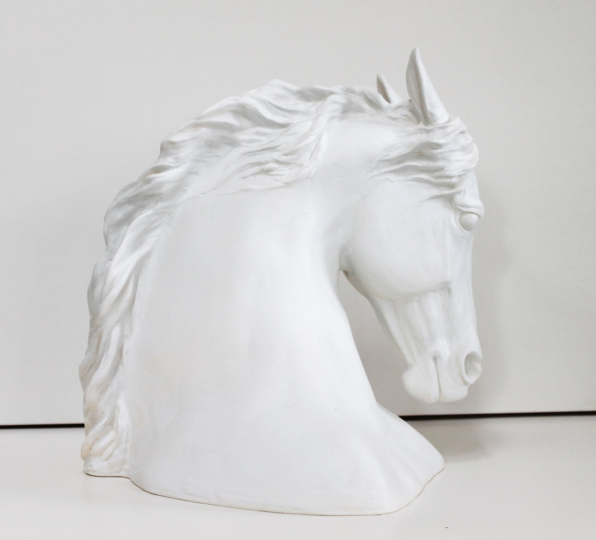 Horse Head Sculpture - white color Patricia Borum - 7