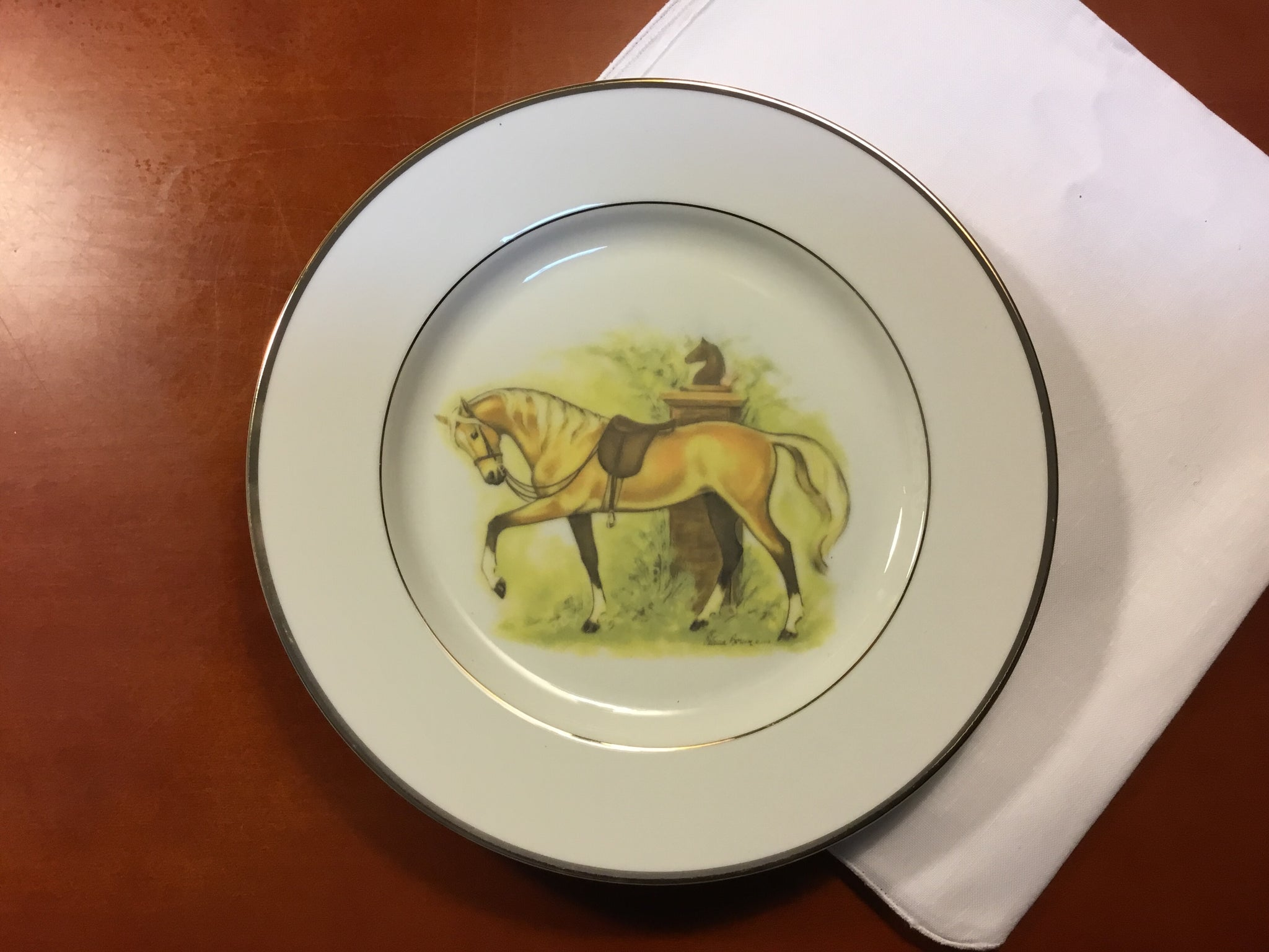 Palomino salad plates set of 4, 7.5 inch by Patricia Borum