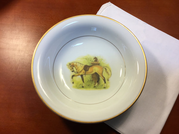 Palomino horse soup bowls, set of 4 (Gently used)