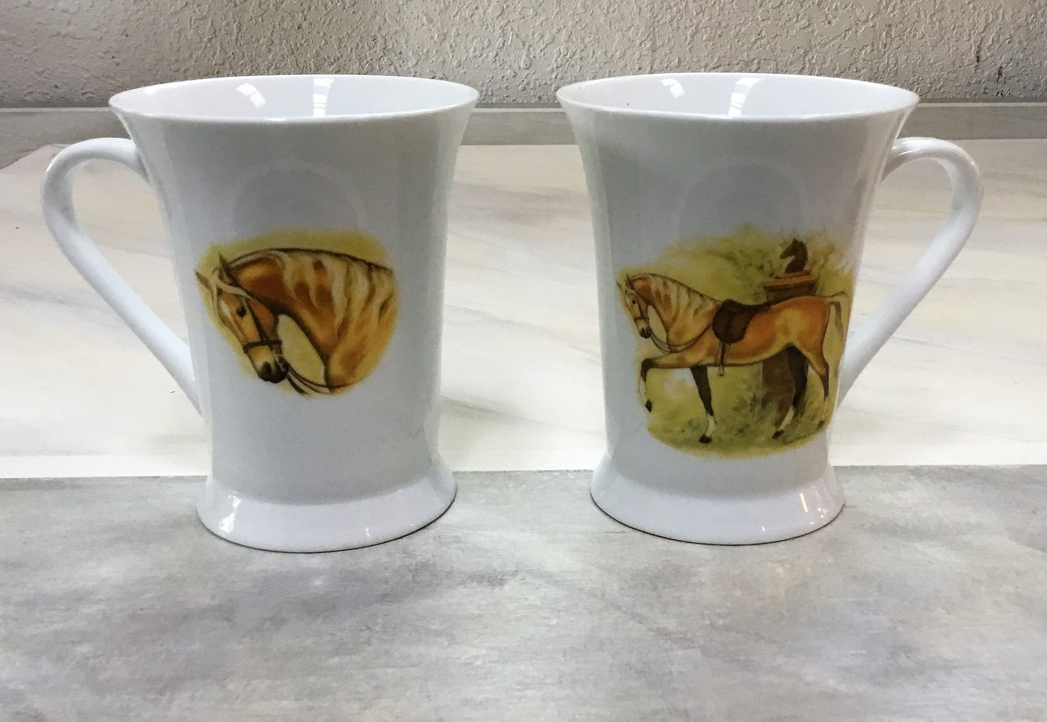 Palonino horse mugs set of 4