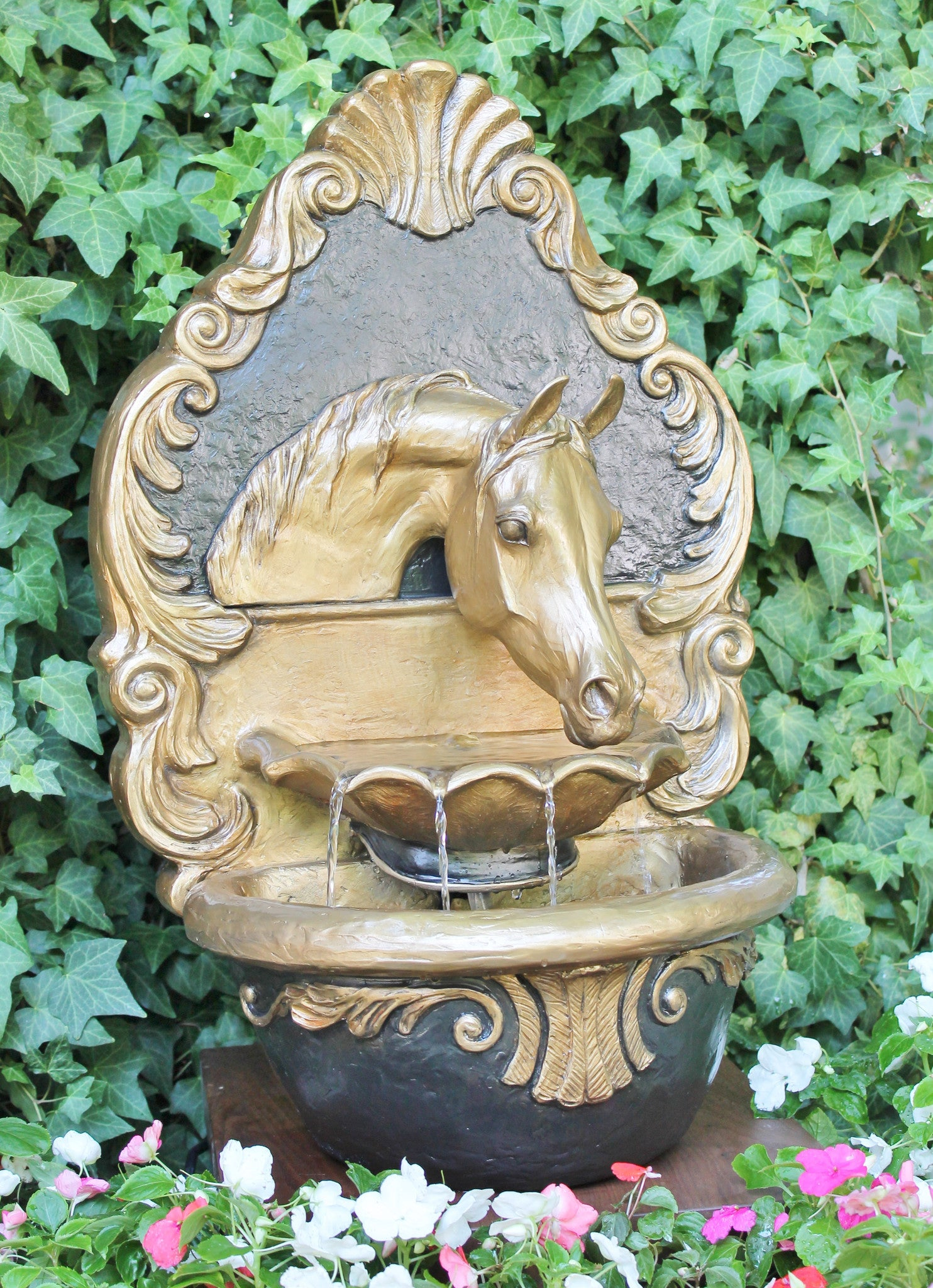 Arabian Horse Fountain (Royal Baroque) - Patricia Borum - 1