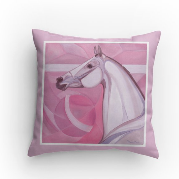 Absolute Horse pink pillow Patricia Borum