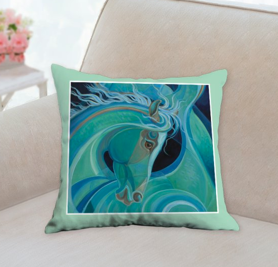 Mermare Pacifica pillow by Patricia Borum