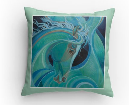 Mermare Pacifica horse pillow Patricia Borum