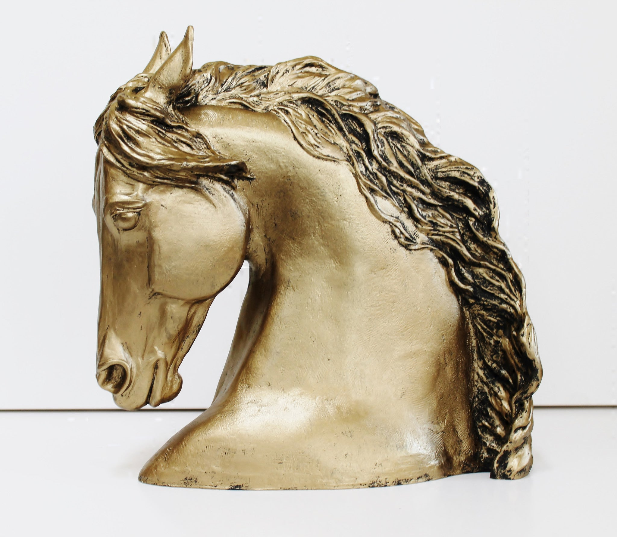 Horse Head Sculpture - gold colorPatricia Borum - 3