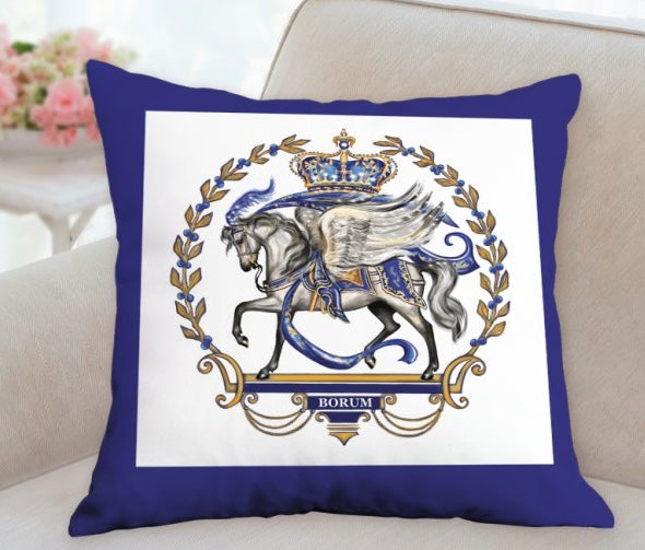 Royal Pegasus Crest pillow by Patricia Borum