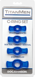 Cock Ring Set (Blue)