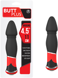 "Butt Plus - 4.5"" Silicone Vibrating Butt Plug - Smooth (Black)"