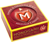 Monogamy Massage Candle - Steamy Amber & Oriental Spice Scented