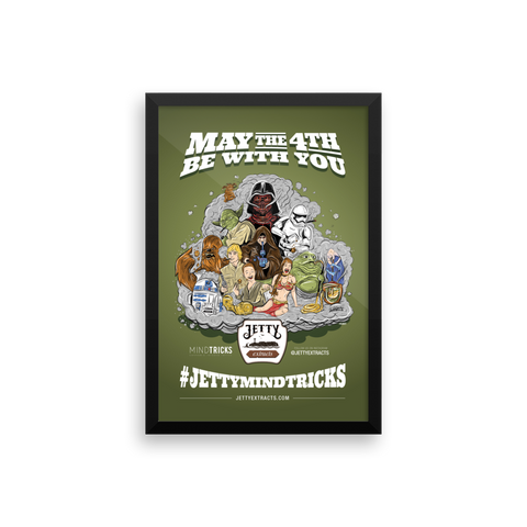 May the 4th Be With You Framed Print Art