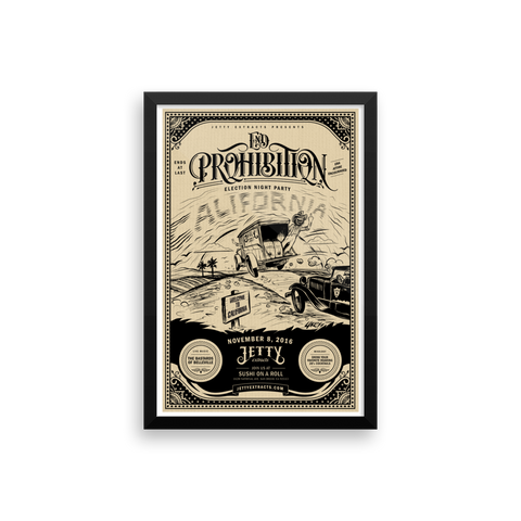 End Prohibition Framed Print Art