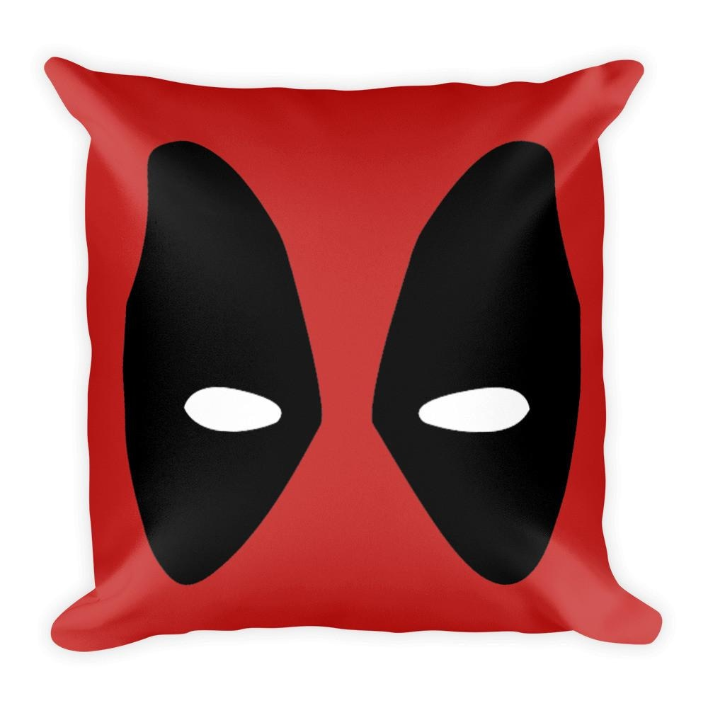 Deadpool 18 x 18 Square Throw Pillow Cushion Made in the USA - Pillow - Nurdtyme