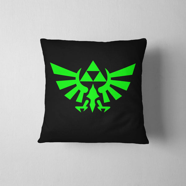 Legend Of Zelda Hyrule Logo Throw Pillow Case 16 x 16 - Pillow - Nurdtyme