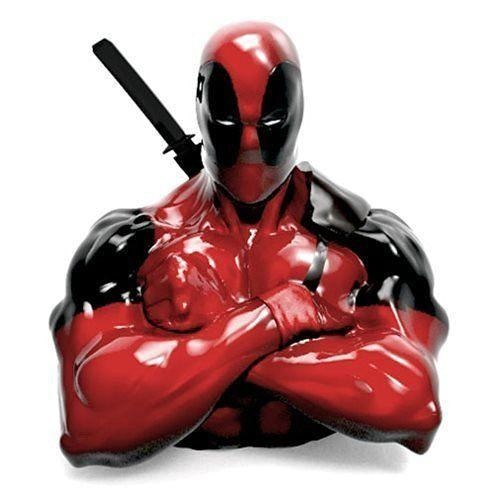 Marvel Deadpool Resin Coin Bank Merc With A Mouth