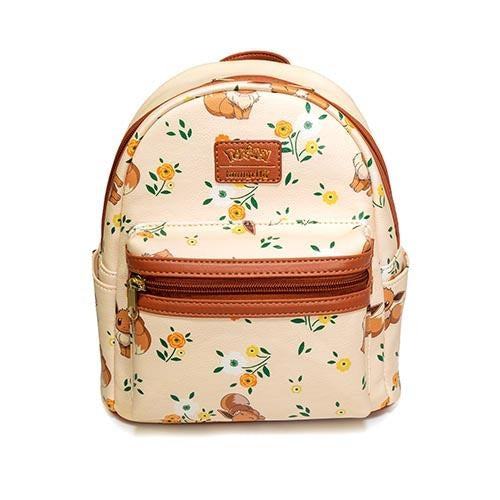 Pokemon Eevee Floral Mini Backpack - Entertainment Earth Exclusive - Backpack - Nurdtyme